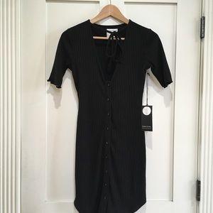 Privacy Please Dresses - Privacy Please Prentiss Ribbed Dress Black